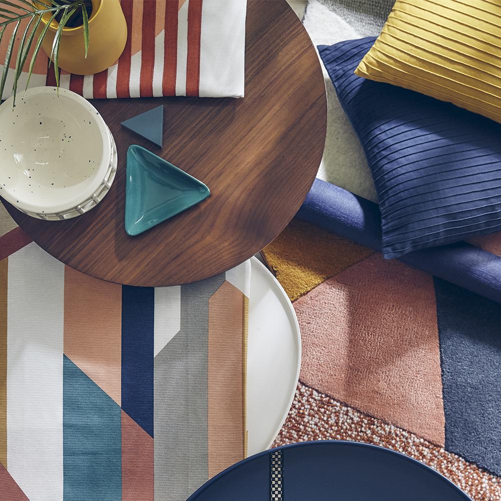 aplat stores rideaux intérieur color bloc heytens