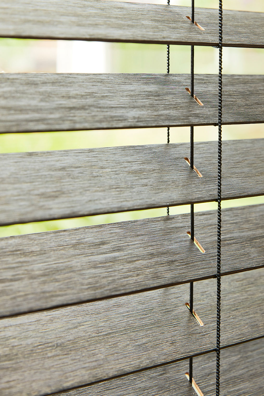 Zoom store vénitien bois Métis