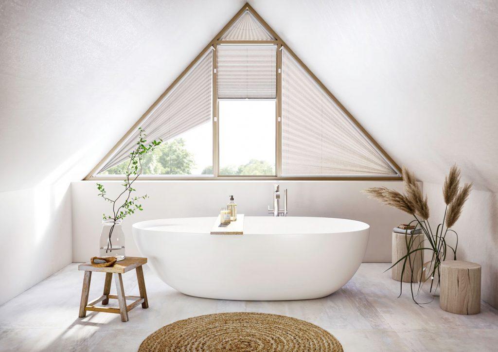 Store plissé simple salle de bain