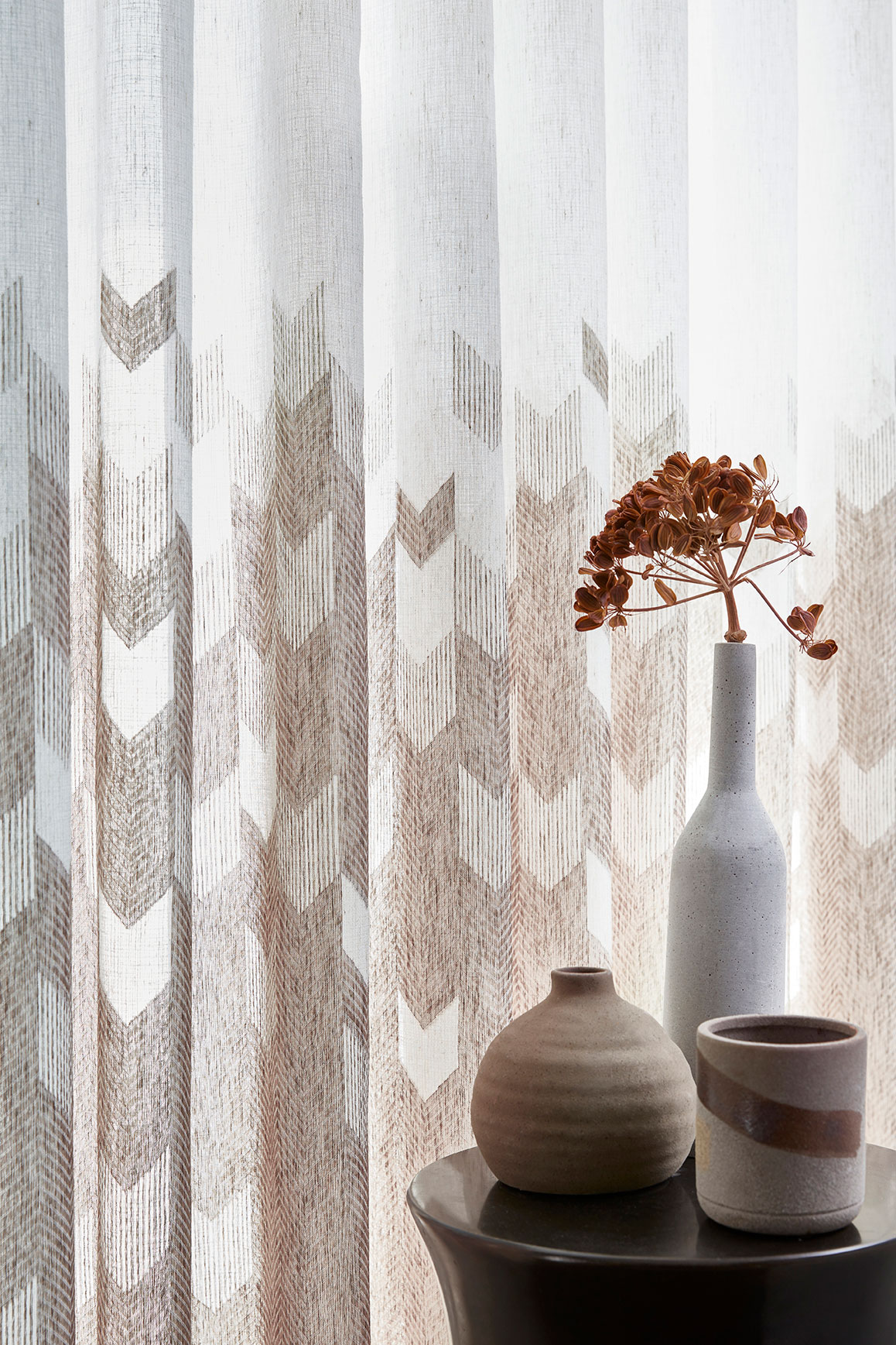 Voilage Kerouan Taupe Wave