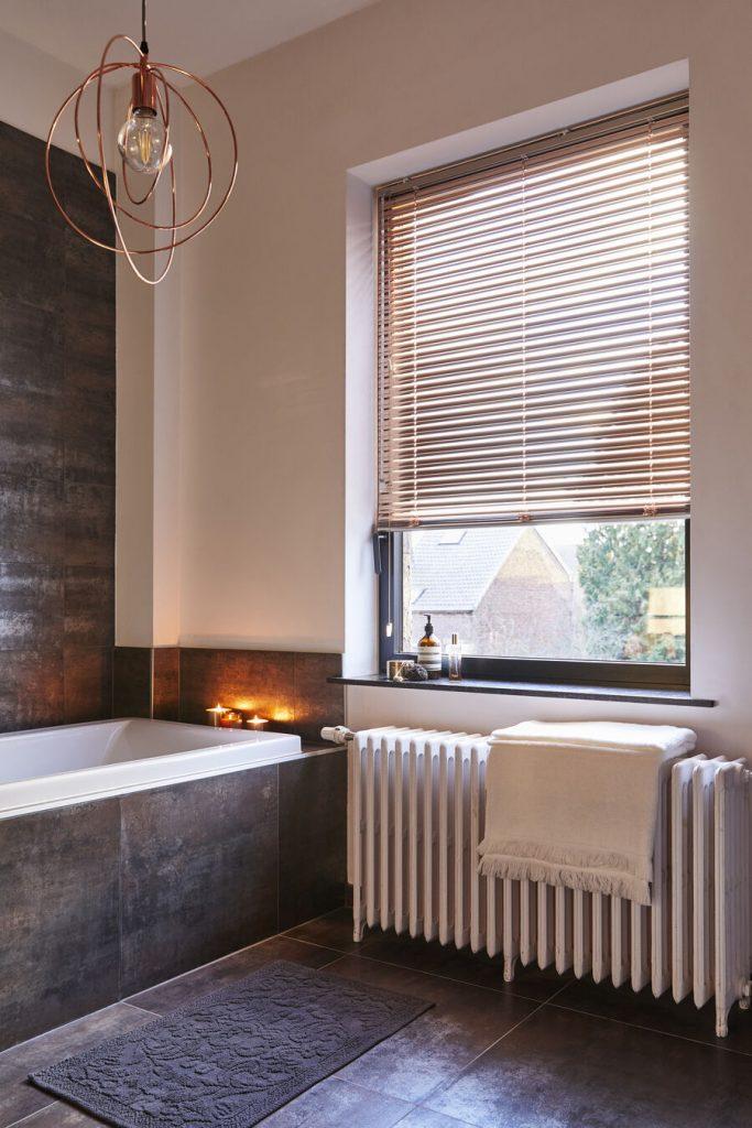 store vénitien alu rose gold salle de bain