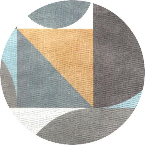 Tissu formes géométriques rideau